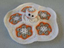 Hand Crocheted Star Wars Like Bb-8 bb8 Droid Lovey Baby Blanket Doll *New*