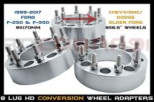 4 PC 1999-2017 FORD WHEELS 8X170 TO 8X6.5 WHEEL CONVERSION ADAPTERS
