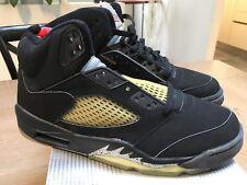 Nike Air Jordan V 5 Retro BLACK METALLIC SILVER size 8 NEW 1999 2000