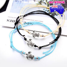 Bohemian Adjustable Rope Sea Turtle Anklet Beach Chain Foot Jewelry