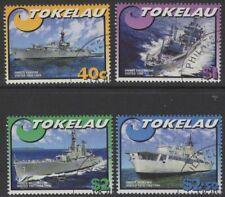 TOKELAU ISLANDS SG343/6 2002 NAVY SHIPS FINE USED