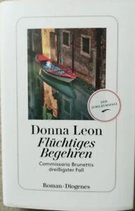 """Donna Leon """"Flüchtiges Begehren"""", Commissario Brunettis dreißigster Fall"""