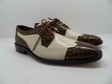 Stacy Adams Men's Galletti Crocodile Print Dress Shoe Oxford Size 8M