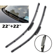 2X 22'' Windshield Flat Wiper Blades Front Window Fit For A4 B6 B7 S4 RS4 A6 C5