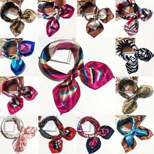 Women Square Silk Feel Satin Scarf Elegant Small Vintage Head Neck Tie Band Lot
