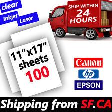 "11"" x 17"",100 sheets,Inkjet & Laser Printing Transparency Film for DIY PCB"