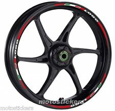 DUCATI 1198 - Adesivi Cerchi – Kit ruote modello tricolore corto