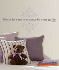 PINOCCHIO Quote: ALWAYS LET YOUR CONSCIENCE BE YOUR GUIDE wall stickers 10 decal