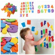 36Pcs Bath Learn Letters & Numbers Stick Floating EVA Baby Bathroom Water Toy Q