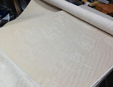 """Tapestry Upholstery Fabric Leaf Joannes 514653 Cream Tan 6 Yards + 55"""" Gorgeous"""