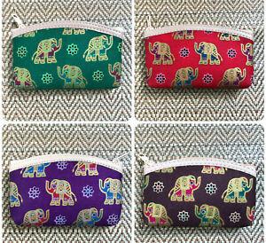 Bright cotton coin purse with cartoon elephant design