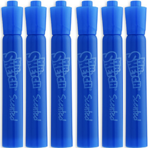 Mr Sketch - Blue - Blueberry Scented Markers, 1906356 - Pack of 6 - Open Box