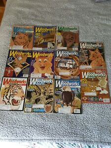 Vintage Creative Woodworks & Crafts Magazine 2001-2005/  LOT OF (11)  issues!!