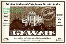 Department store Gewah Salzburg Austrian 1926 ad Austria advertising christmas +