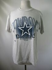 E9931 VTG Dallas Cowboys NFL Football 50/50 Graphic T-Shirt Size M Made in USA