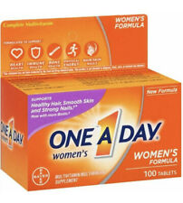 One-A-Day Women's Multivitamin Tablets, 100 Count Each, Exp 1/2021+