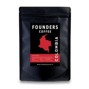 Founders Coffee - Colombia Colombian - Premium Medium Roast Arabica Beans Ground