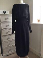 M&S Limited Edition Black/Gold Midi Dress 10