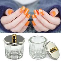 Crystal Glass Nail Art Acrylic Dappen Dish Cup Liquid Powder-Accessory
