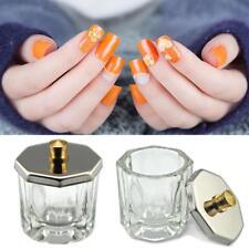 Crystal Glass Nail Art Acrylic Dappen Dish Bowl Cup Liquid Powder Accessory New