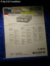 Sony Service Manual TA S7AV Amplifier  (#5025)