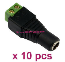 NEW 10pcs 5.5mm x 2.1mm 12V DC Female Power Cable Connector Plug for CCTV Camera