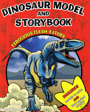 FEROCIOUS FLESH-EATERS Press-Out Dinosaur Models & Facts Storybook Ages 3+
