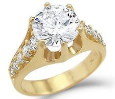 14KT GOLD 3 CTW SOLITAIRE LC. S* DIAMOND ENGAGEMENT RING SZ 10 SZ 11 SZ 12 SZ 13