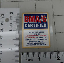 BMA/6 bicycle decal