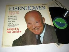 EISENHOWER: THE MAN & HIS TIMES IN HIS OWN WORDS Caedmon VG++/NM! 2LP