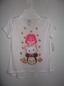 DISNEY - GIRLS - T-SHIRT - WHITE - SIZE MEDIUM (10-12)     (AC-26-460x4)
