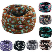 Women Unisex Double Layer Neck Winter Fleece Knitted Scarf Scarves Shawls Cowl