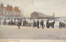 Old Pier Vintage Postcard Scarborough Early 1900s Horses Boats