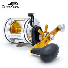 CAMEKOON Conventional Saltwater Fishing Reel Level Wind Right Hand Trolling Reel