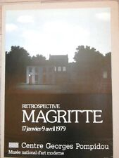 MAGRITTE Affiche originale 1979 Centre Pompidou Surrealisme ART Original poster