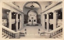Salt Lake City UT Balustrade Steps & Marble Pillars of State Capitol RPPC c1924