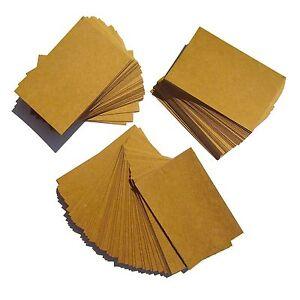 100 Kraft Blank Business Cards 270gsm, Stamp, Write, Brown Kraft Card. Recycled
