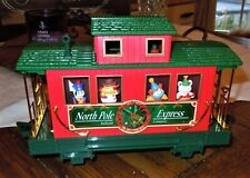 ANIMATED EZTEC North Pole Express G Scale Caboose Train Car W/ Moving Characters
