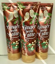 3 BATH AND BODY WORKS*GINGERBREAD LATTE*CREAM LOTION*Free PRIORITY Shipping!NEW