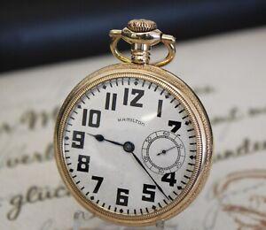 Rare Hamilton LANCASTER 975 Taschenuhr gold filled pocket watch