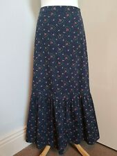 Laura Ashley Archive Ditsy Floral Needle Cord Tiered Skirt Prairie Folk Hippy 8