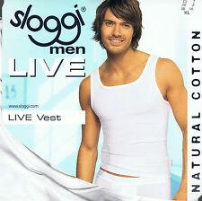 """SLOGGI canotta uomo """"LIVE Vest"""" taglia 7 - XL colore bianco cotone"""