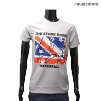 THE STONE ROSES Official T Shirt Waterfall Ian Brown Grey Band New S M L XL XXL
