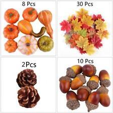 50/Set Halloween Mini Artificial Pumpkins, Acorn, Pine Cone and Maple Leaves