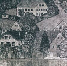 Gustav KLIMT, CASA SULL'ATTERSEE, collotipia su carta, 30x32 cm, autentica