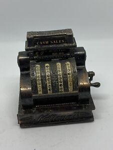 Vintage Cash Register Die Cast Antique Style Pencil Sharpener