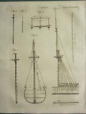 1797 georgiano impresión ~ mástil ~ enviar varios diagramas