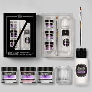 6Pcs/Set Nail Acrylic Powder Liquid DIY Kit - with Glass Cup & Nails Brush Pen