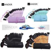 32pcs Muticolor Vander Eyebrow Shadow Soft Makeup Brush Set Kit + Pouch Bag YU#5