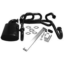 VW Beetle mild steel  black  sidewinder exhaust header + muffler